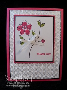 Handmade Thank You Cards:  Flower Fancy