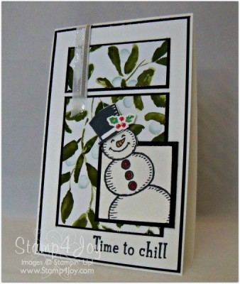 HANDMADE CHRISTMAS CARD - TIME TO CHILL - blog.Stamp4Joy.com