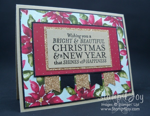 Christmas Card Sunday - Bright & Beautiful - blog.Stamp4Joy.com