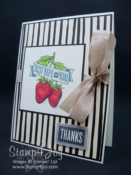 Thank You Card Ideas Using Market Fresh and Stake Your Claim - blog.Stamp4Joy.com