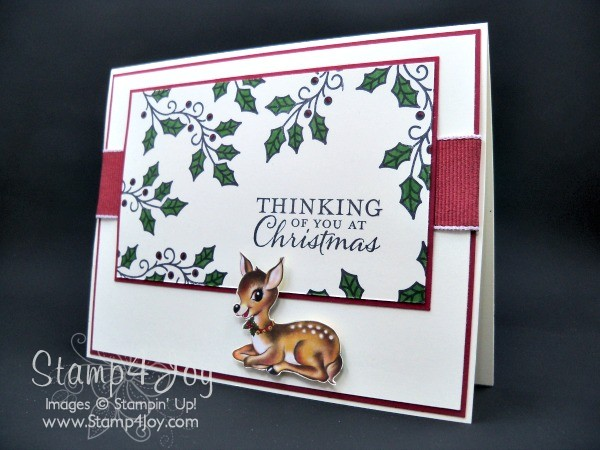 Christmas Card Sunday - Embellished Ornaments - blog.Stamp4Joy.com