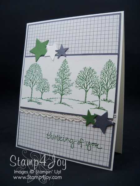 Lovely as a Tree Handmade Thinking of You Card - blog.Stamp4Joy.com