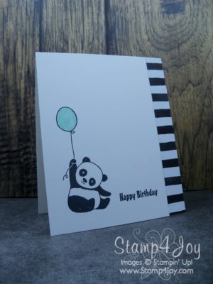 Make a Black and White Birthday Card - www.Stamp4Joy.com
